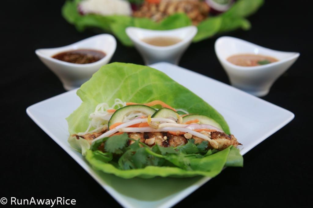 Grilled Chicken Lettuce Wraps - Cheesecake Factory Copycat Recipe | runawayrice.com