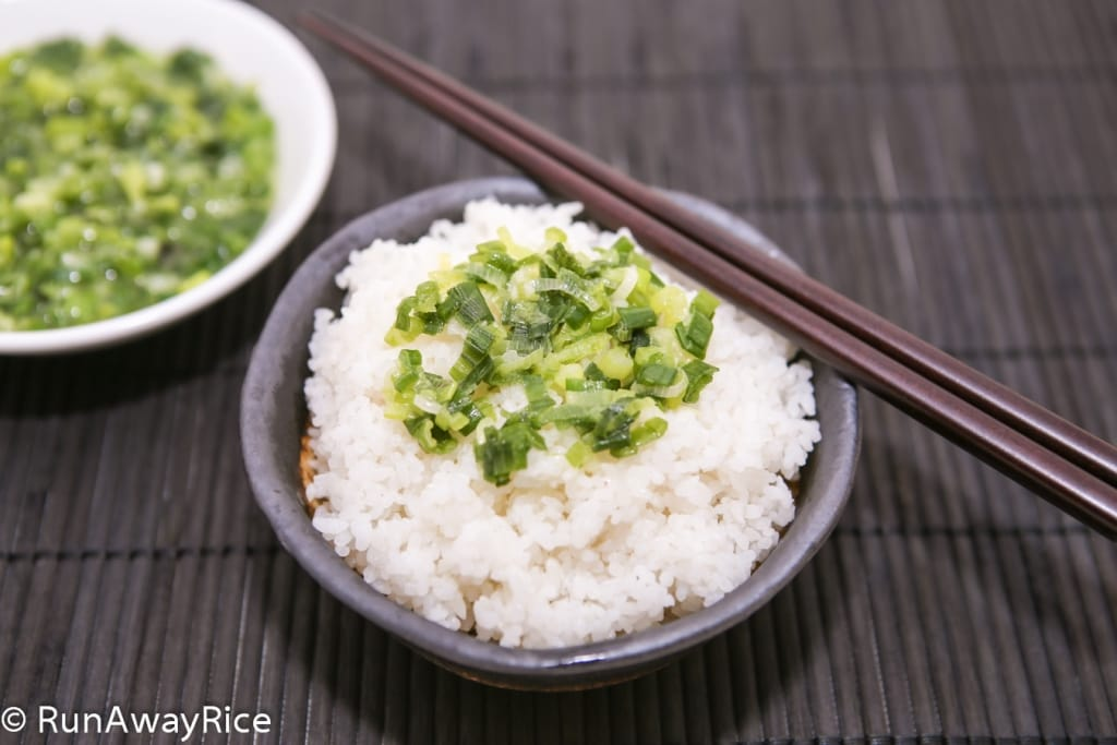 Scallion Oil on Broken Rice (Mo Hanh)