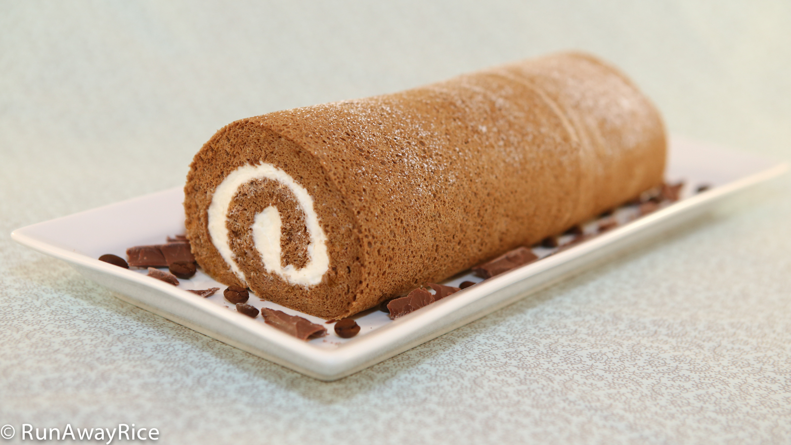 Chocolate Sponge Cake Jelly Roll