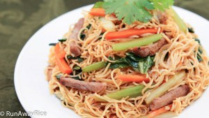 Stir-Fried Egg Noodles - Who won't love oodles of noodles with roast pork and veggies?