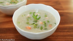 Yampi Root/Yam Soup with Shrimp (Canh Khoai Mo) -- garnish with Rice Paddy Herb for a pop of freshness and flavor!