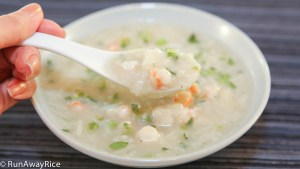 Yampi Root/Yam Soup with Shrimp (Canh Khoai Mo) -- a hearty soup that is full of flavor and texture.