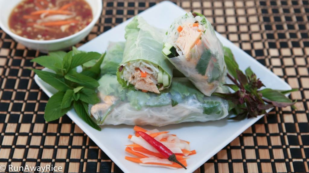 Asian-Style Baked Salmon (Cá Hồi Nướng) - Refreshing Rice Paper Rolls | recipe from runawayrice.com