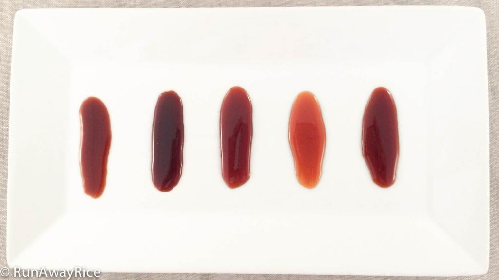 A look at these samples of Caramel Sauce will let you know if you've cooked the Caramel Sauce properly.