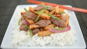 Viet-style version of steak and potatoes--This hearty dish is a snap to make and a dish the whole family will enjoy!