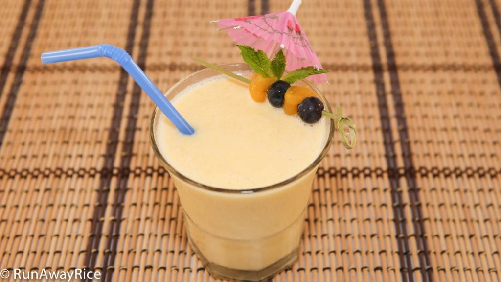 Jackfruit Smoothie (Sinh To Mit) - Sweet and Refreshing Drink | recipe from runawayrice.com
