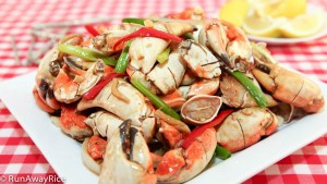 Spicy Stir-Fried Crab Claws - these claws are cut and scored making them so much easier to open!