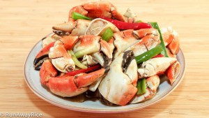 Delicious and succulent crab legs and claws stir-fried in a spicy and savory Asian sauce.