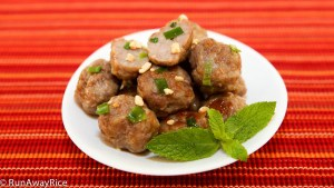 A nice alternative to the skewers these tasty meatballs are super easy to make!