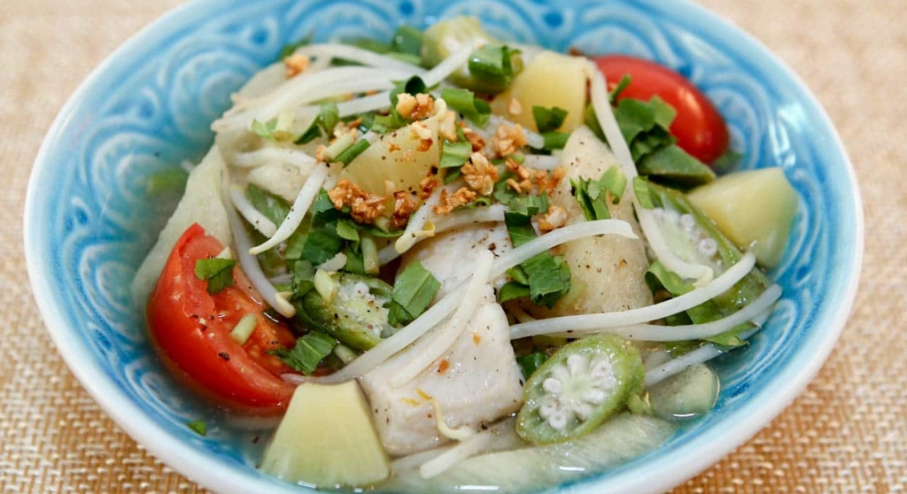 Tart, savory and sweet, this delicious soup is a classic Viet dish!