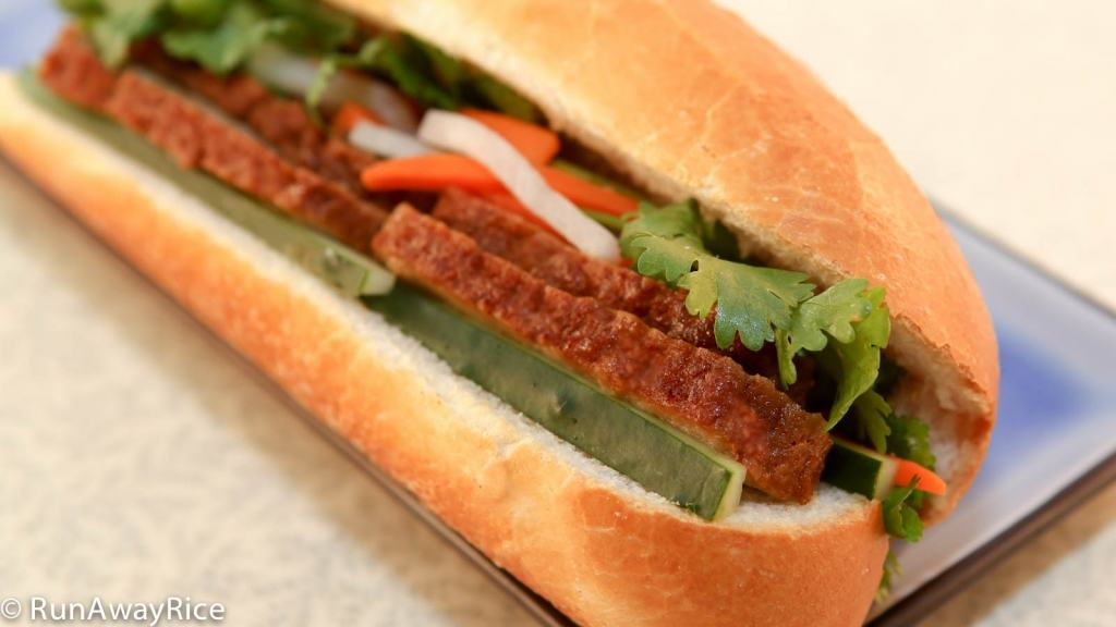 Viet-Style Mock Roast Pork Sandwich...YUM! | recipe from runawayrice.com