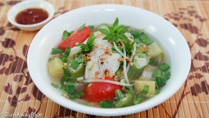 Serve this delicious soup with a side of fish sauce and red chilies!