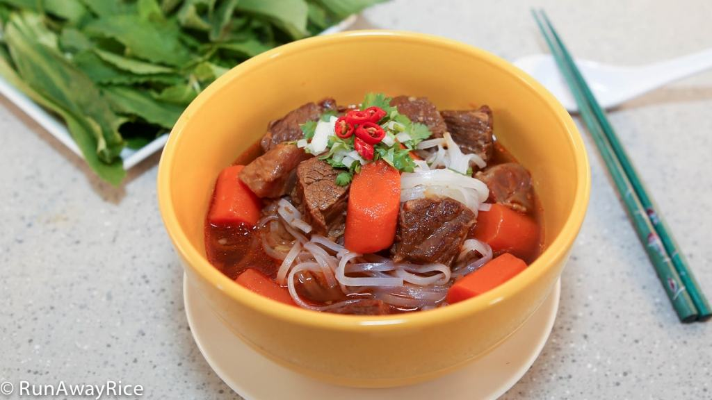 Serve over Beef Stew over tapioca noodles for a hearty noodle soup!