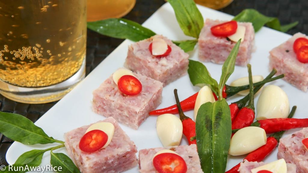 Cured Pork enjoyed with your favorite adult beverage! | recipe from runawayrice.com