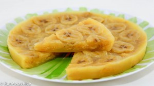 Steamed Banana Cake (Banh Chuoi Hap) - Made with ripe plantains, this cake is a popular Vietnamese dessert! | recipe from runawayrice.com