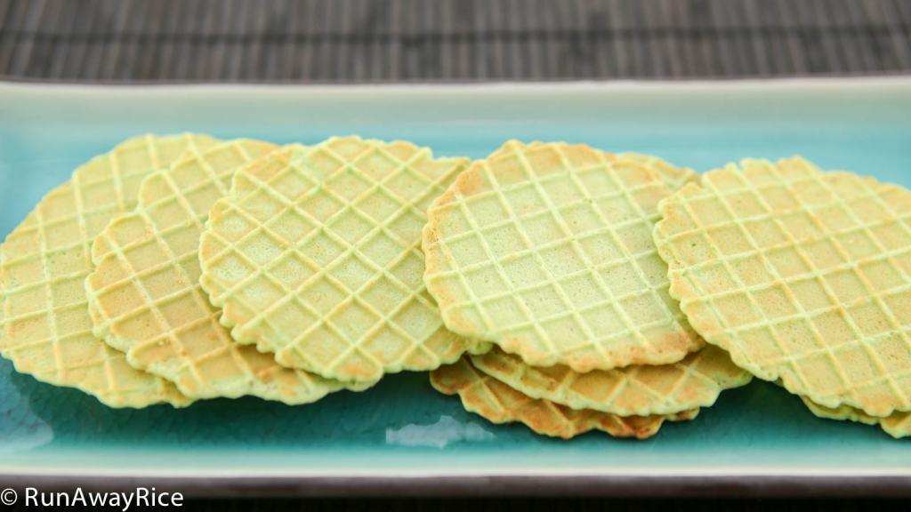 Pandan Waffle Cookies