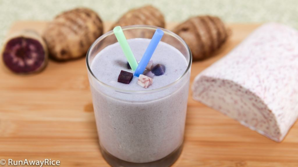 Visually appealing and tasty! This Taro Smoothie is a snap to whip-up at home!