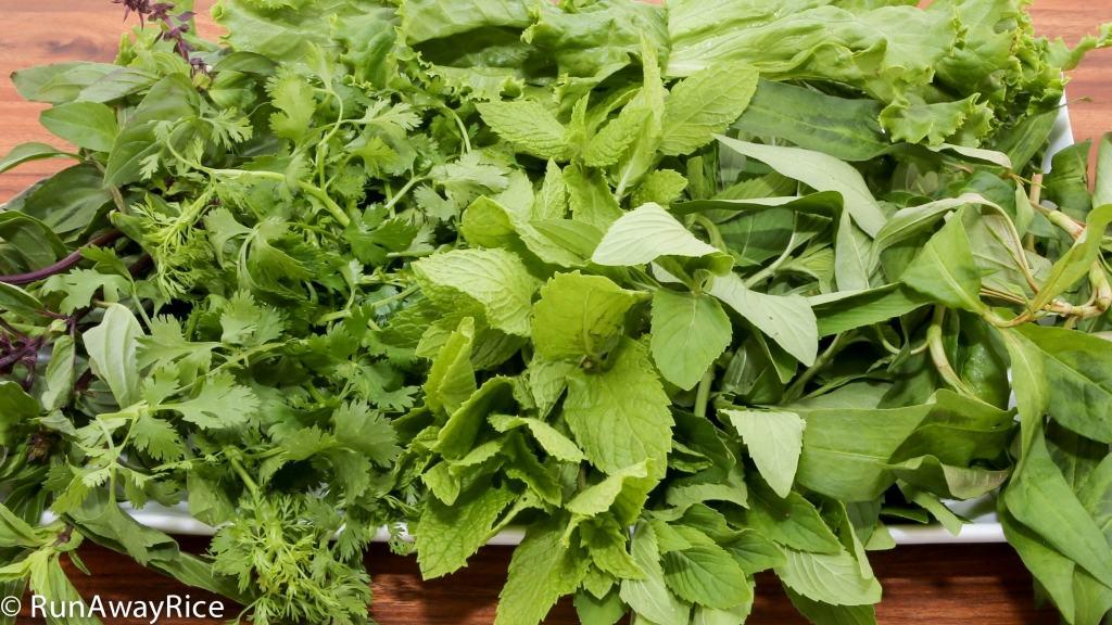 Assorted Vietnamese Herbs | runawayrice.com