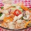 For the seafood lover--this noodle salad is absolutely delish!