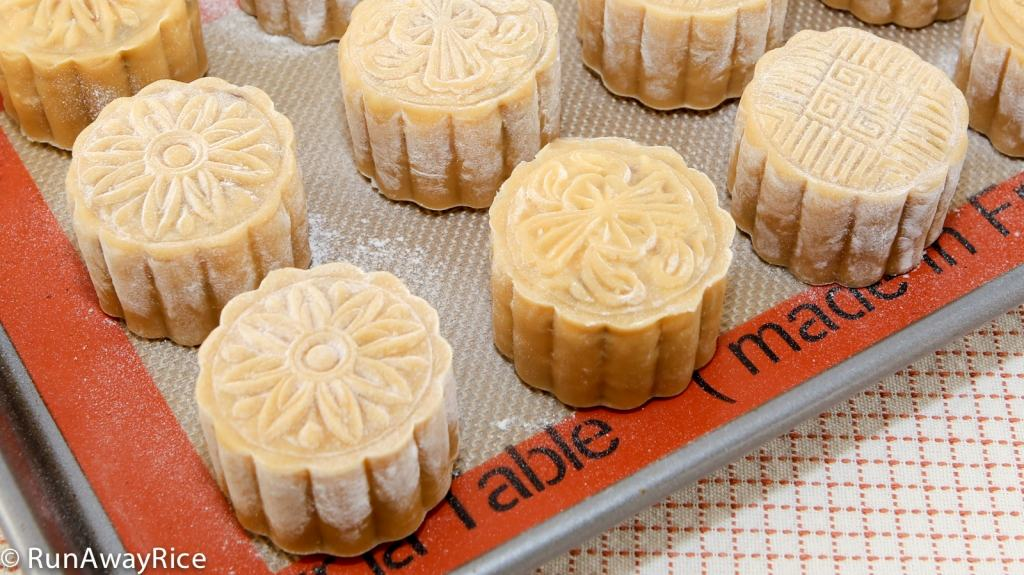 Beautiful mooncakes--ready to be baked! recipe from runawayrice.com