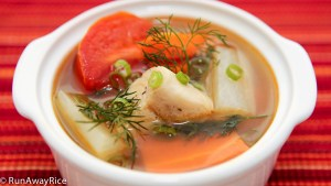 Fish Soup with Fresh Dill--wonderfully fragrant and delicious! | recipe from runawayrice.com