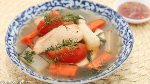 Hearty Vietnamese Fish Soup with Fresh Dill--one of the easiest soups to make!