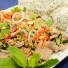 Rare Beef in Lime Juice Salad (Bo Tai Chanh), recipe from runawayrice.com