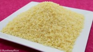 Delicious Sticky Rice Coated with Mung Bean (Xoi Voi) | recipe from runawayrice.com