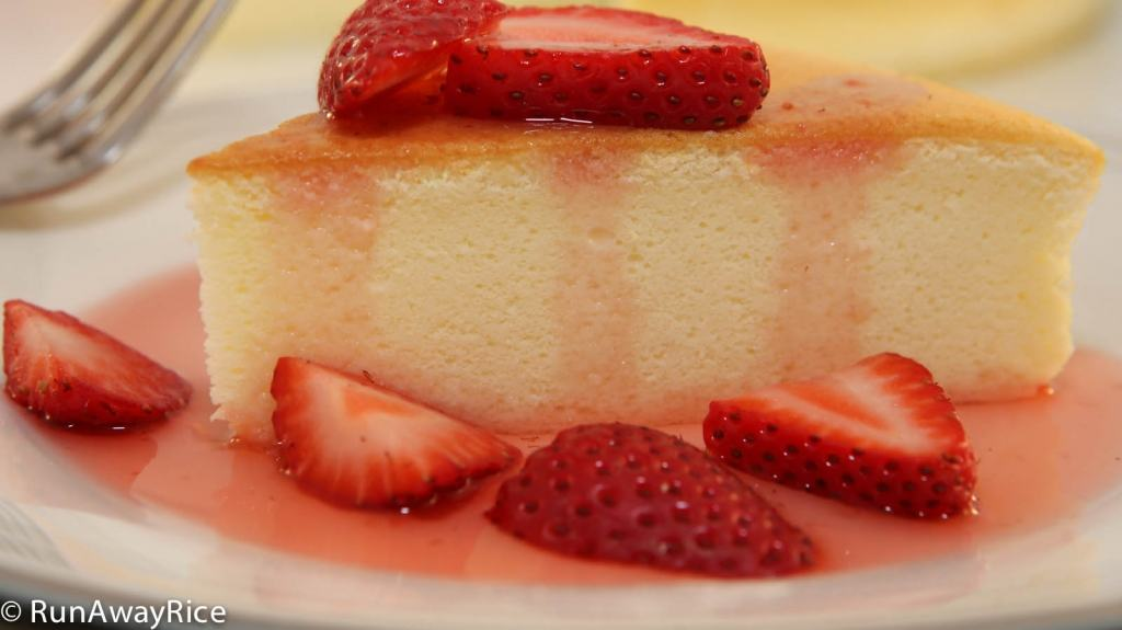 Cotton Cheesecake / Japanese Cheesecake - velvety sponge cake, must-try recipe! | recipe from runwayrice.com