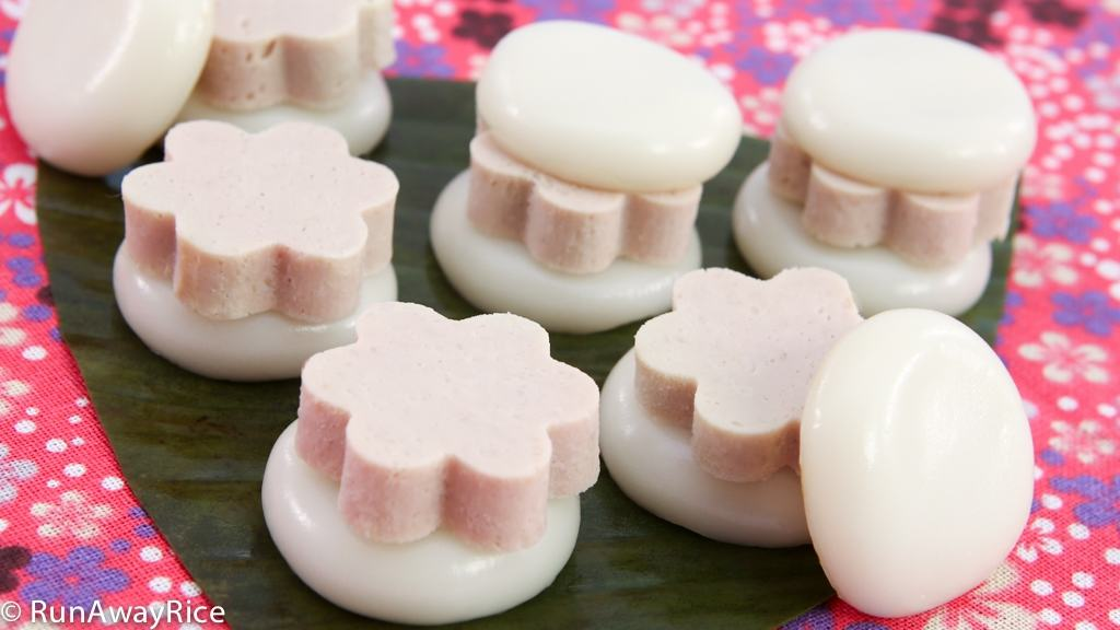 The perfect little snack: Steamed Rice Cakes with Pork Roll | recipe from runawayrice.com