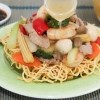 Delicious Crispy Noodle with Stir-Fried Beef, Shrimp and Vegetables/Bird's Nest Crispy Noodle | recipe from runawayrice.com