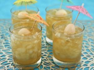 Jasmine Green Tea with Lychee Jelly   recipe from runawayrice.com