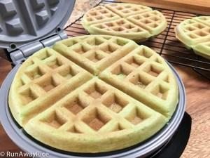 Pandan Waffles (Banh Kep La Dua) - Super Easy Recipe!   recipe from runawayrice.com