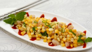 Summer Corn and Fresh Shrimp Saute (Bap Xao Tom) - Summer's best flavors in this simple recipe! | runawayrice.com