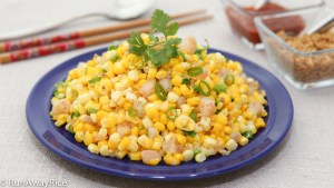 Scrumptious Summer Corn and Fresh Shrimp (Bap Xao Tom) - All of summer's best flavors in this quick and easy recipe! | runawayrice.com