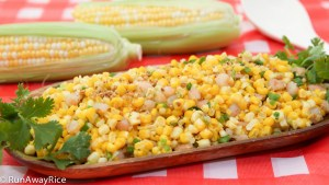 Sauted Summer Corn and Fresh Shrimp (Bap Xao Tom) - Enjoy summer's best flavors with this easy recipe! | runawayrice.com