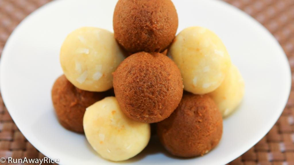 Mung Bean and Pumpkin Filling Balls | recipe from runawayrice.com