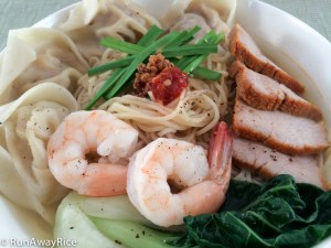 Won Ton Noodle Soup (Mi Hoanh Thanh) | recipe from runawayrice.com