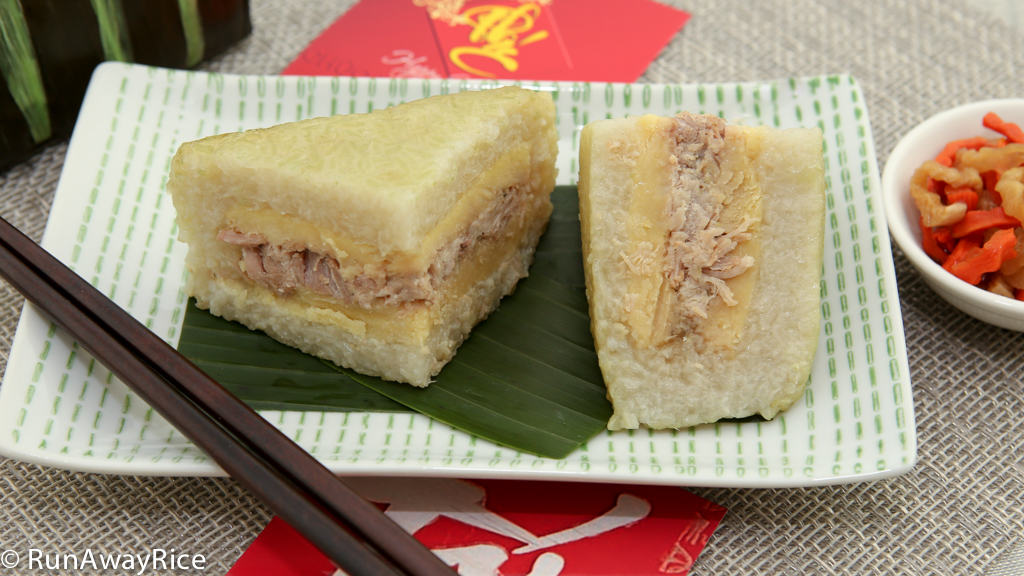 Square Sticky Rice and Mung Bean Cakes (Banh Chung) - Scrumptious Lunar New Year Cakes | recipe from runawayrice.com