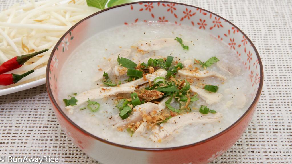 Chicken Congee Rice Porridge Chao Ga Runawayrice