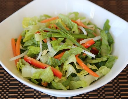 Clean and Lean Salad with Honey Lemongrass Dressing | recipe from runawayrice.com