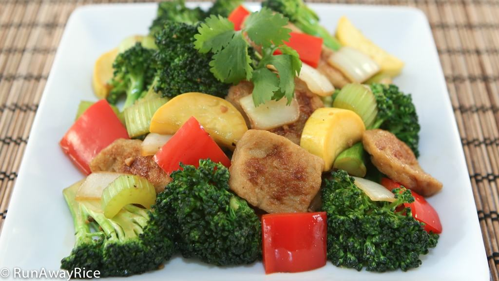 Stir-Fried Seitan (Mi Can) - Delicious and Healthy Stir-Fried Seitan and Vegetables | runawayrice.com