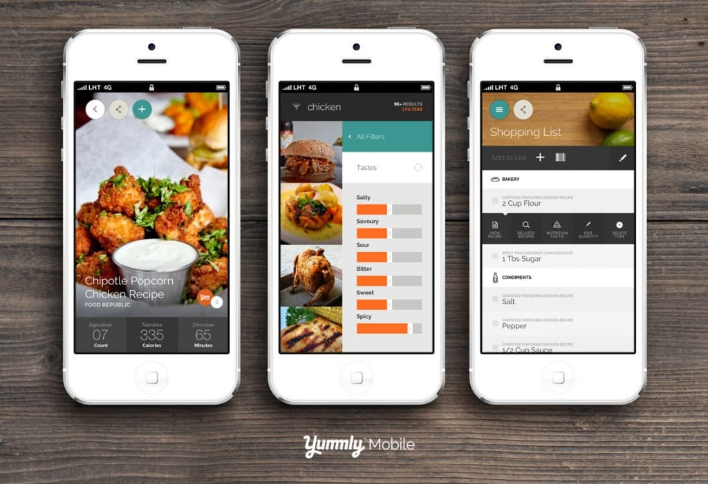 Yummly Mobile App for iPhone