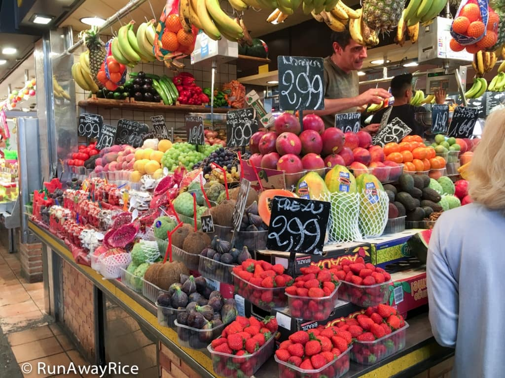Fresh Fruit at La Boqueria Market | runawayrice.com