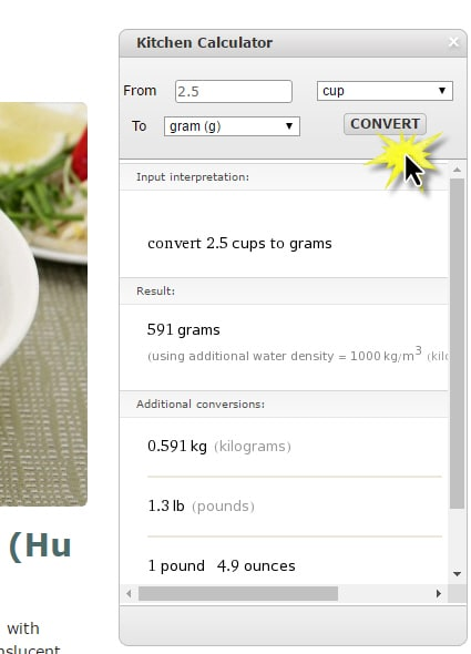 New Website Features - Easy to use Kitchen Calculator for recipe conversions | runawayrice.com