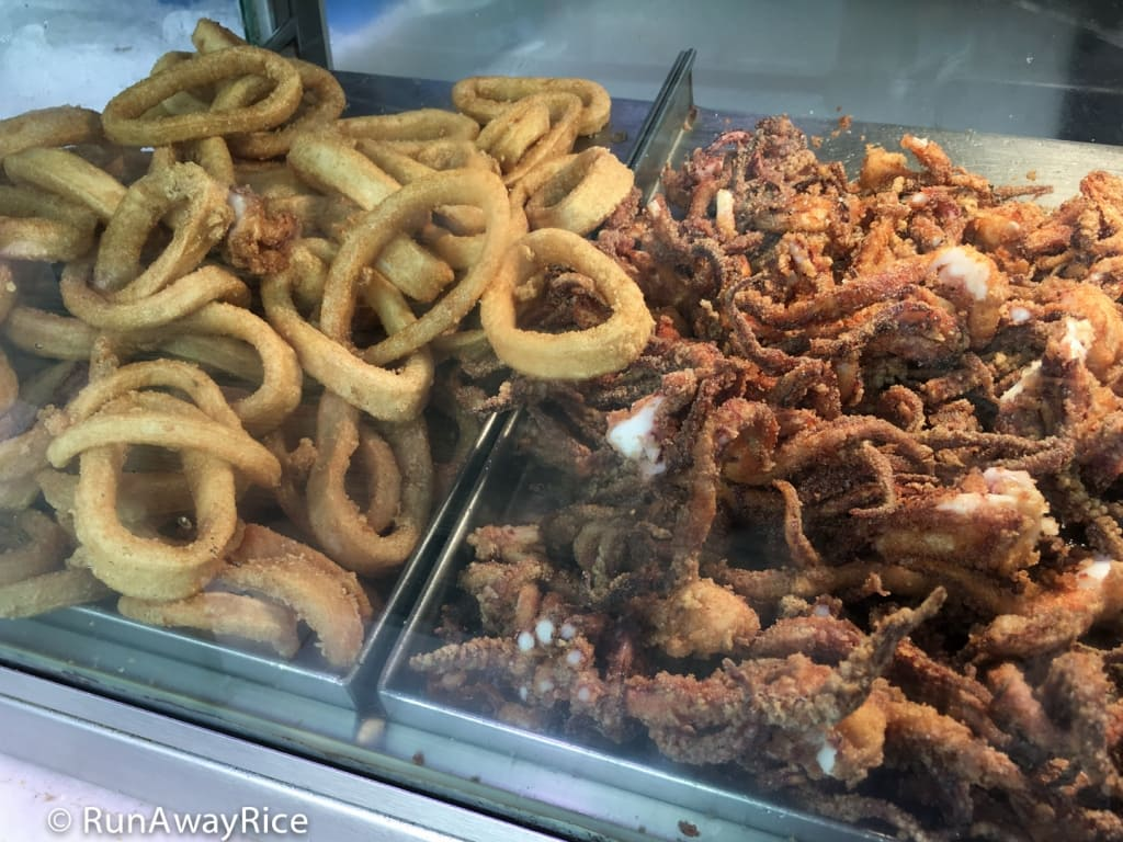 Mercado de San Miguel - Deep-fried Squid / Calamari | runawayrice.com