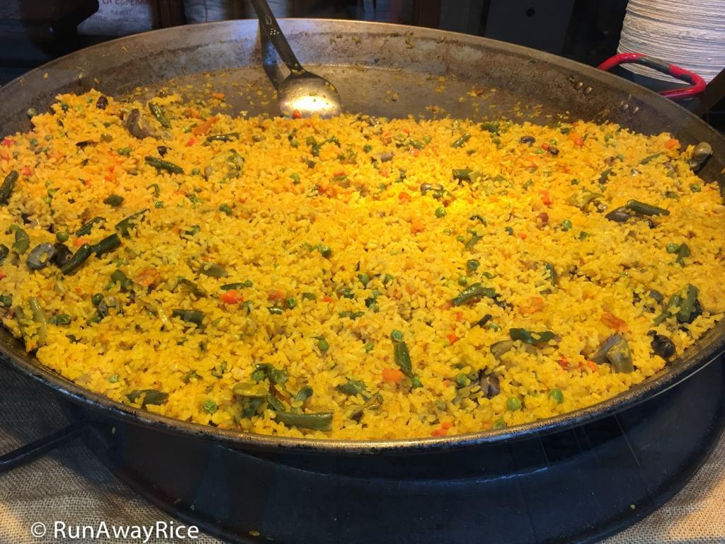 Mercado de San Miguel - Vegetable Paella | runawayrice.com