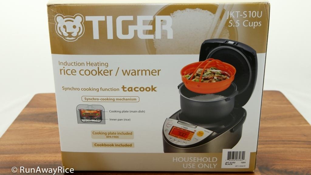 Tiger IH 5.5 Rice Cooker - Back of box | runawayrice.com