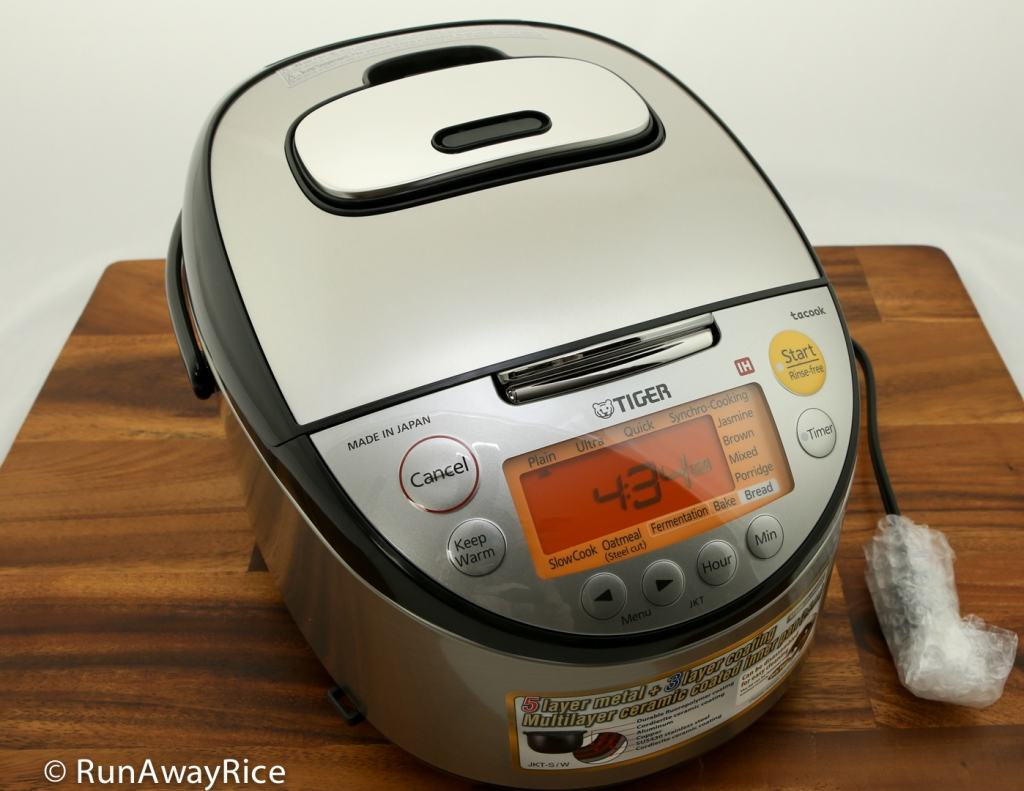 Tiger IH 5.5 Rice Cooker - Top/Front view | runawayrice.com