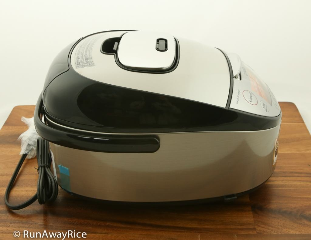 Tiger IH 5.5 Rice Cooker - Showing Left Side view | runawayrice.com